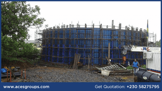 formwork-at-circular-water-tank